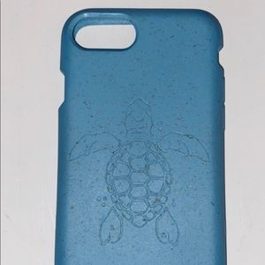 Brand new baby blue PELA turtle case